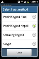 Screenshot of PaniniKeypad Nepali IME