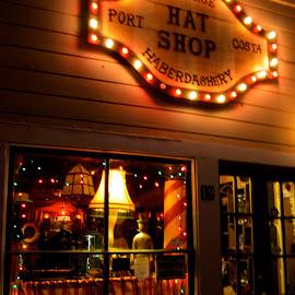 Hat Shop, Port Costa, California by Kathleen Koehlmoos - City,  Street & Park  Markets & Shops ( carquinez strait, port costa, port costa california, the hat shop, hat shop )