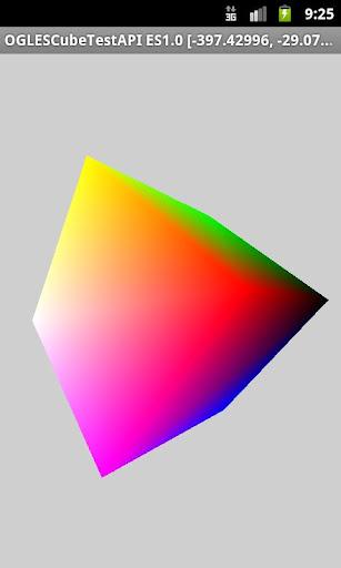 OpenGL ES Cube Test API