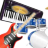 Piano Guitar Drum icon