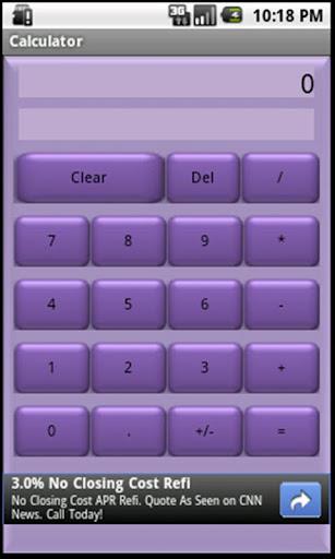 Basic Calculator Purple