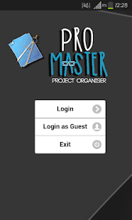 ProMaster - Project Organiser - screenshot