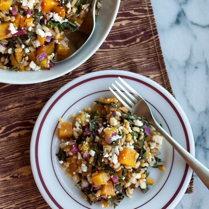 Golden Beet and Barley Salad with Rainbow Chard
