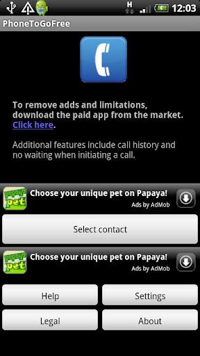 玩免費通訊APP|下載PhoneToGo Free app不用錢|硬是要APP