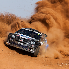 Rally 003 by Johan Niemand - Sports & Fitness Motorsports ( car, rally, racing, dust, dirt, stage )