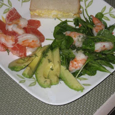 Avocado, Prawn / Shrimp & Pink Grapefruit Salad - for Two 2