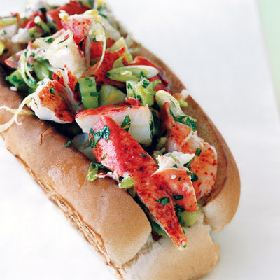 Lobster Rolls with Lemon Vinaigrette and Garlic Butter