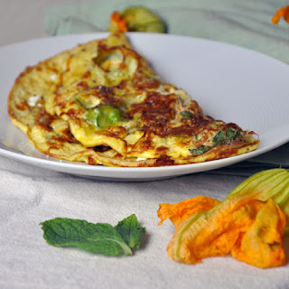 Squash Blossom and Mint Omelet