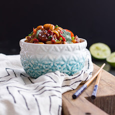 Chili Cashew Shrimp Noodles.