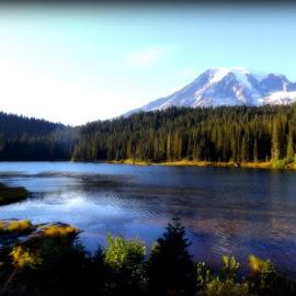 Mt Rainier by Edie Delzer - Landscapes Mountains & Hills