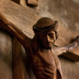 by Sheri O'Reilly - Novices Only Objects & Still Life ( wooden, jesus, crucifixion, starvation )