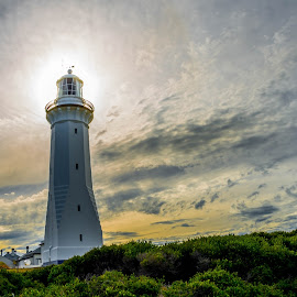 Safety for the lost ones by Jose Rojas - Buildings & Architecture Public & Historical ( national park, building, sunset, ben boyd national park, lighthouse, architecture, landscape )