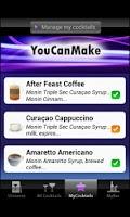 Screenshot of MONIN Ultimate Cocktails