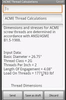 Screenshot of Stub ACME Thread Calculation