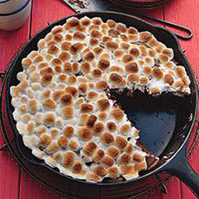 Grilled Gingerbread S'mores Cake