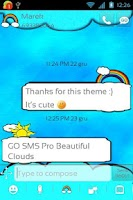 Screenshot of GO SMS Pro Beautiful Clouds