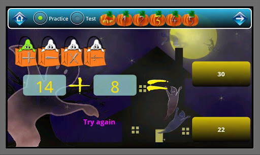 Halloween Math Flashcard P Q