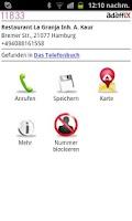 Screenshot of 11833 Anruferkennung