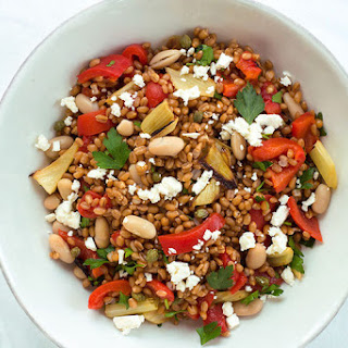 Wheat Berry Salad with Roasted Fennel and Bell Pepper