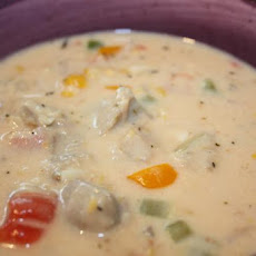 Smoky Roasted Chicken and Corn Chowder