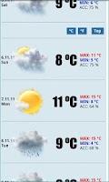 Screenshot of FREE 100days Weather USA & EU