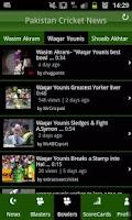 Screenshot of Pakistan Cricket News