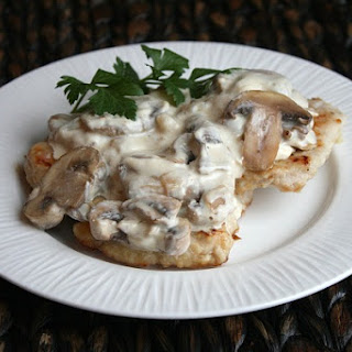 Pork Cutlets w/ Creamy Mushroom and Caramelized Shallot Sauce