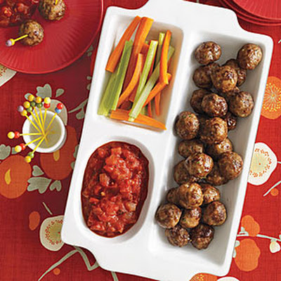 Herbed Cocktail Meatballs with Chunky Tomato Sauce
