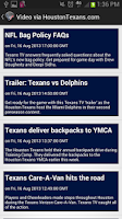 Screenshot of Houston Texans News App