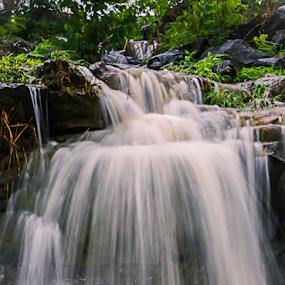 Waterfall_02 by Vyom Saxena - Nature Up Close Natural Waterdrops ( mumbai, highway, pune, monsoon waterfall )