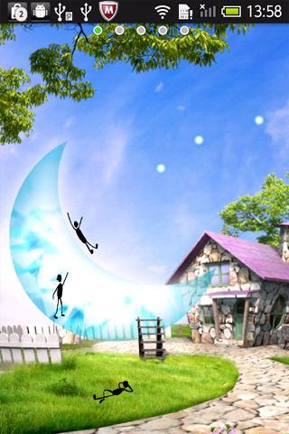 月のすべり台 ライブ壁紙