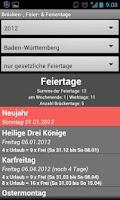 Screenshot of Brücken- & Feiertage Ad Free