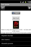 Screenshot of Send Rose Love Quotes