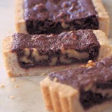 Dark Chocolate and Toasted Walnut Tart