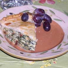 Spinach Pie With Sun-Dried Tomatoes