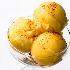 Spicy Pineapple and Tequila Sorbet