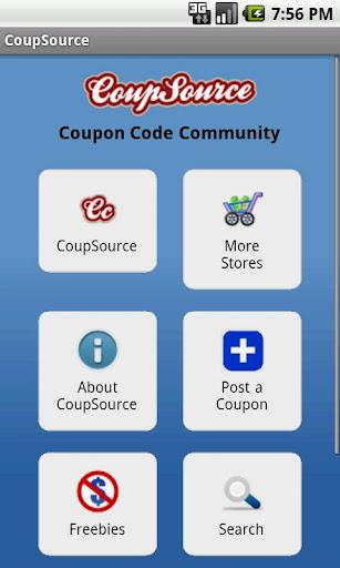 Coupon Code App - CoupSource