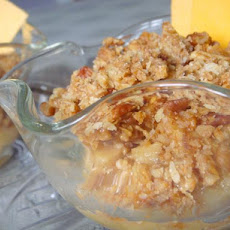 Butterscotch Apple Crumble Dessert