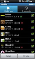 Screenshot of Task Killer Free
