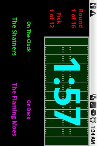 Fantasy Football Draft Clock