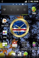 Screenshot of Cape Verde flag clocks