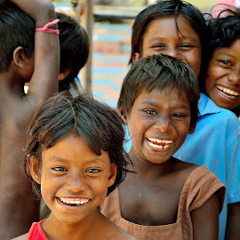 Smile of Innocence by Saikat Kundu - Babies & Children Children Candids ( laughing, color, innocence, children, smile, group,  )