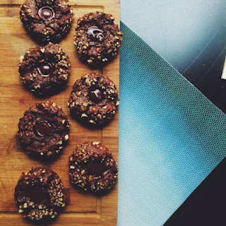 Chewy Chocolate Pecan Brownie Cookies