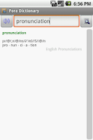 Screenshot of English Pronunciations Package