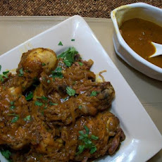 Moroccan Braised Chicken Legs and Thighs With Carrot Juice, Date