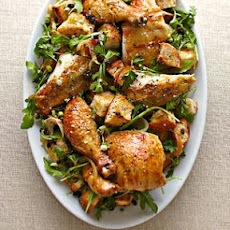Roasted Chicken with Warm Bread Salad