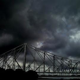 bridge in cloud by Anjan Acharya - Buildings & Architecture Bridges & Suspended Structures ( monsoon, windy, cloud, bridge, rain )