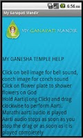 Screenshot of My Ganapati Mandir