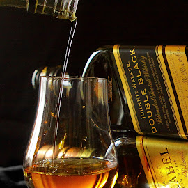 Silky Smooth Pour by Marc Wahrer - Food & Drink Alcohol & Drinks ( scotch, alcohol, drink, glass, johnnie walker )