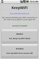 Screenshot of KeepWiFi